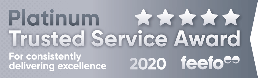2020 Feefo Platinum Service Award, Feefo Independent Ratings