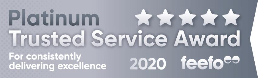 2020 Feefo Platinum Service Award, Feefo Independent Ratings