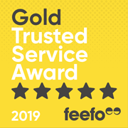 2019 Gold Trusted Service, Feefo Independent Ratings