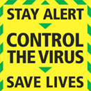 Control the virus sign