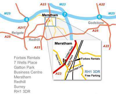 Redhill Office directions map
