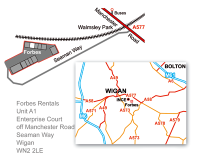 Wigan Office directions map