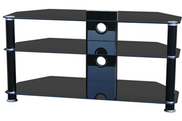 Forbes  1300STD – TV Stand (Black)
