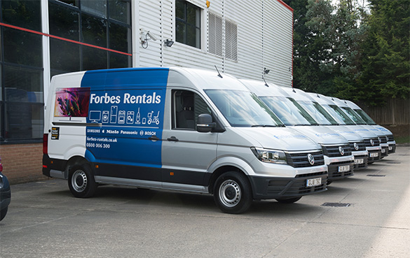 Forbes Rentals new van fleet