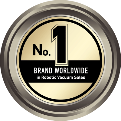 Award logo, No 1 Brand Worldwide in Robotic Vacuum Sales