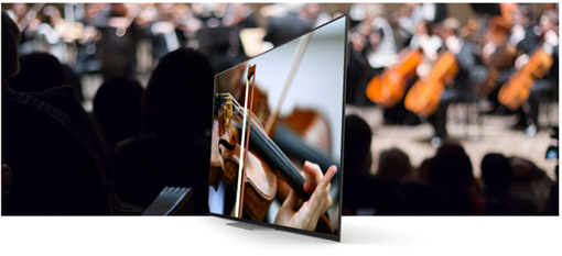 Classical orchestra on the OLED TV