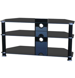 Glass 1000mm TV Stand – Black