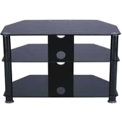 Glass 800mm TV Stand– Black