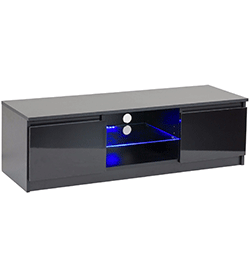 TV Cabinet with Blue LED Lights for up to 55″ – Black
