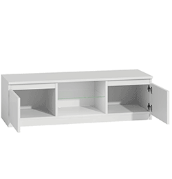 TV Cabinet with Blue LED Lights for up to 55″ – White
