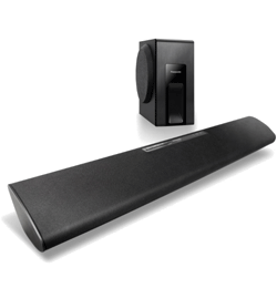 Wireless Bluetooth Soundbar with Wired Subwoofer – Black