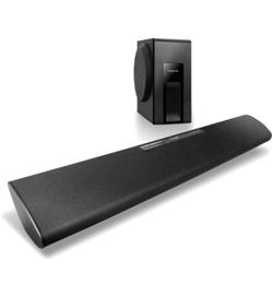 Wireless Bluetooth Soundbar with Wired Subwoofer – Black