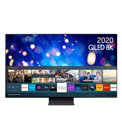 65″ Smart 8K HDR QLED TV with Bixby, Alexa & Google Assistant – Black – D Rated