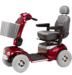 8 MPH 20 Mile Mobility Scooter – Red