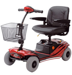 4 MPH 16 Mile Mobility Scooter – Red