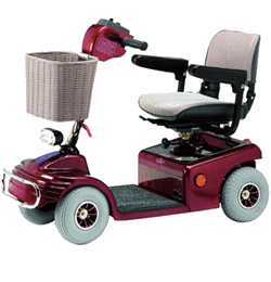 4 MPH 20 Mile Mobility Scooter – Red