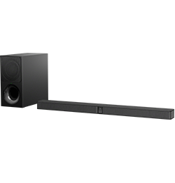 2.1″ Bluetooth Sound Bar with Wireless Subwoofer – Black