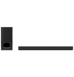 2.1″ Bluetooth® Sound Bar with Wireless Subwoofer – Black