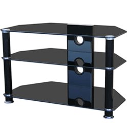 Glass TV Stand – Black