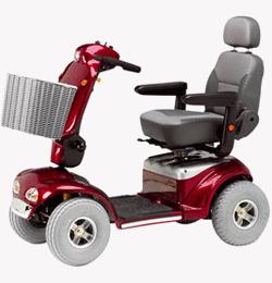 Shoprider Cadiz 8 MPH 20 Mile Mobility Scooter – Red