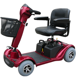 Shoprider Sorrento 4mph 20 Mile Mobility Scooter – Red