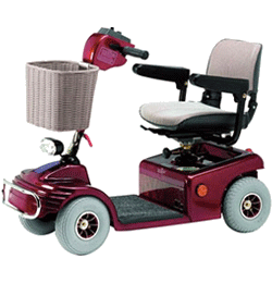 Sovereign 4 MPH 20 Mile Mobility Scooter – Red