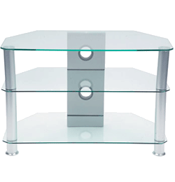 Glass TV Stand – Clear Glass