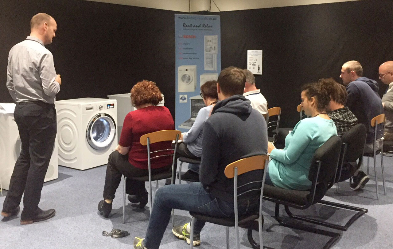 Bosch training session with Forbes sales staff