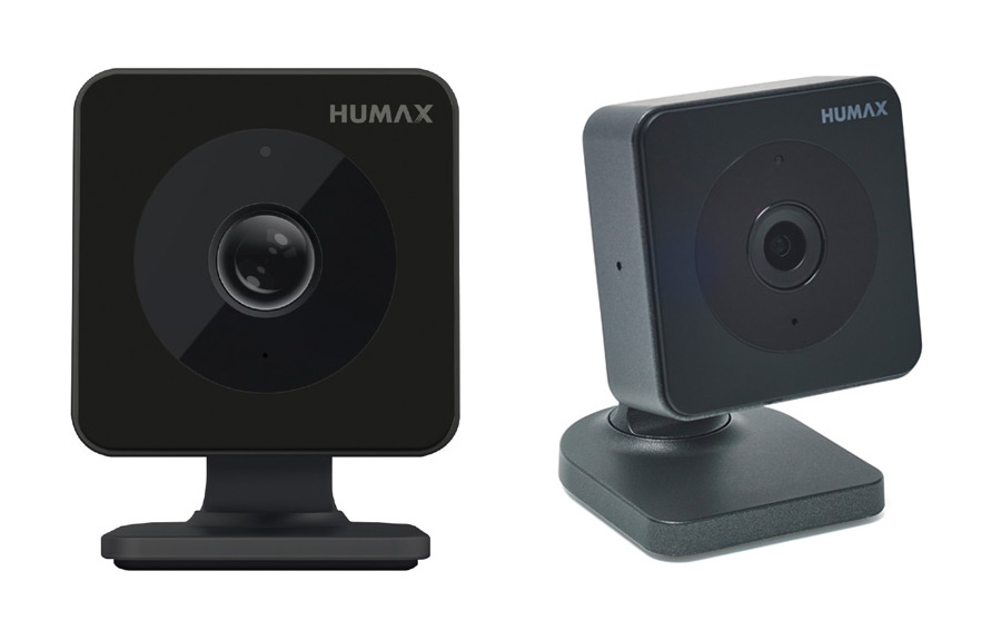 Two Humax cameras with wall brackets