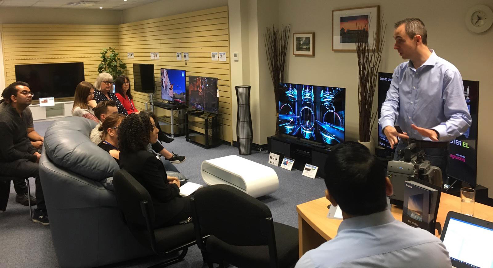 Sony training session with Forbes sales staff