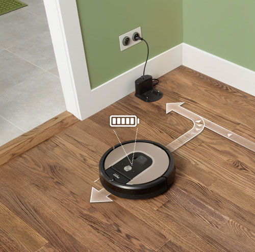 Roomba vacuum cleaner charging