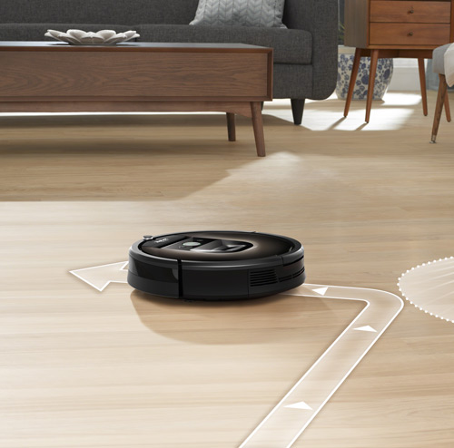 Roomba vacuum cleaner changing direction