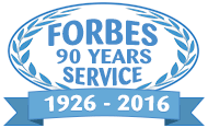 Forbes 90 years of service, 1926 - 2016