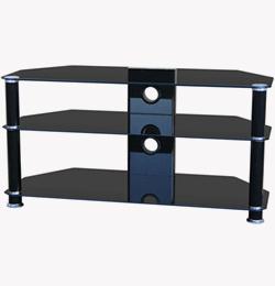 Glass 1000mm TV Stand – Black