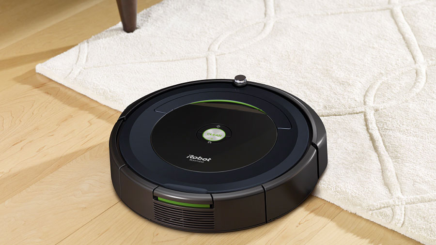 iRobot Roomba moving over a carpet